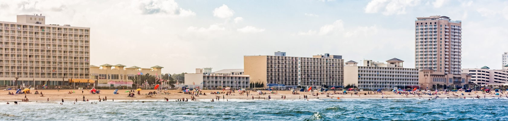 Virginia Beach VA skyline from the ocean | Breit Cantor: Virginia Beach Personal Injury Attorneys